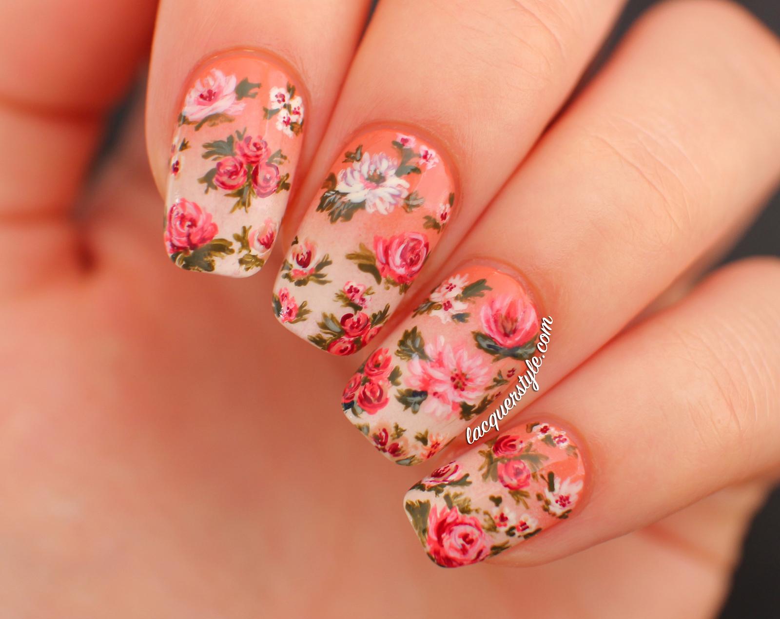 Узоры ногтей цветы