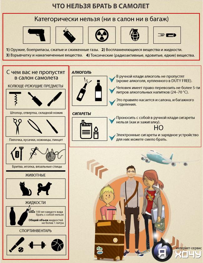 Что можно провозить в ручной клади в самолете 2018 год