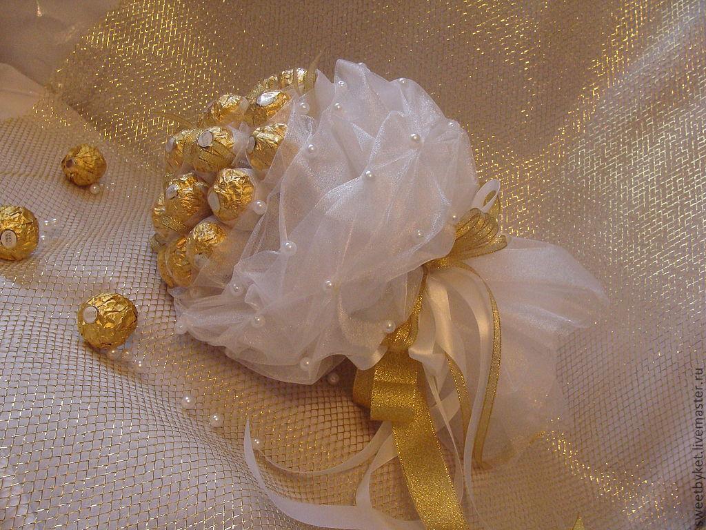 Букет из конфет невесты своими руками 45