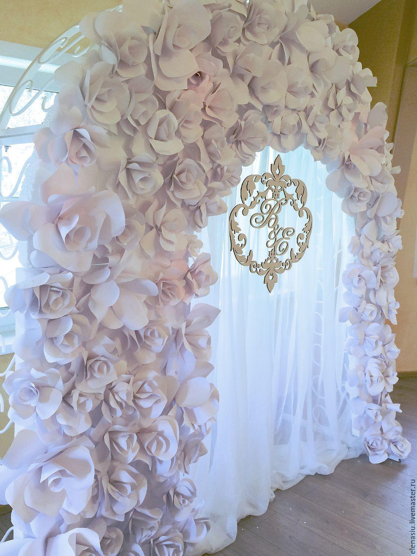 Как сделать большие цветы на свадьбу своими руками 64