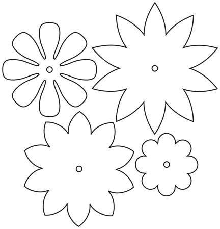 Цветы из бумаги для оформления зала шаблоны 20