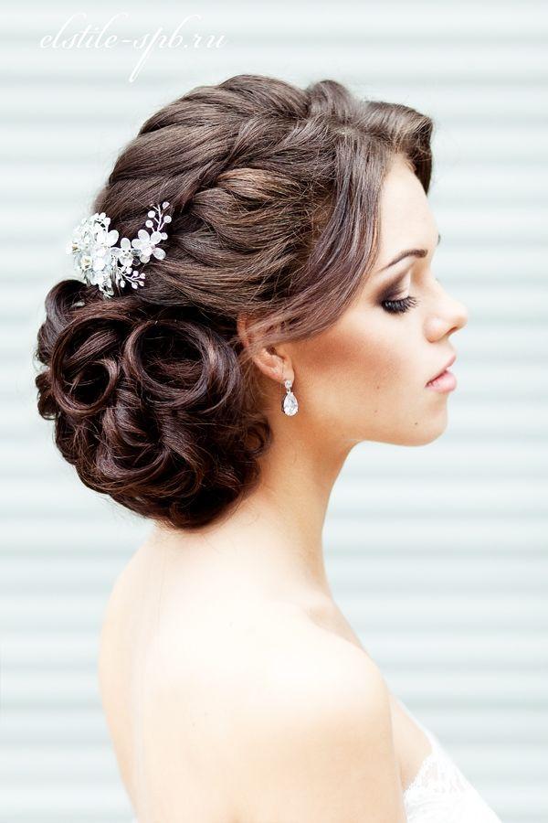 Прически вечерние и свадебные на средние волосы