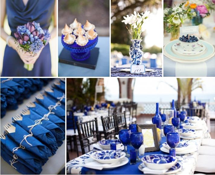 Свадьба в сине белом цвете